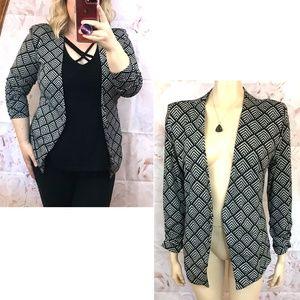 TART Anahi Geometric Blazer Jacket ruched sleeve